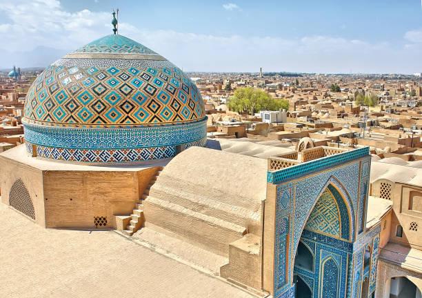 ein blick auf die kuppel der kabir jaame moschee in yazd, iran - iranische stock-fotos und bilder