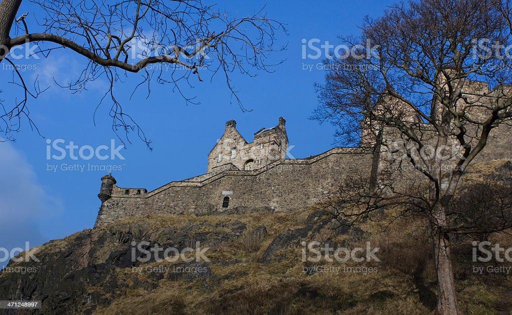 View of the Edinburgh Castle, Scotland stock photo