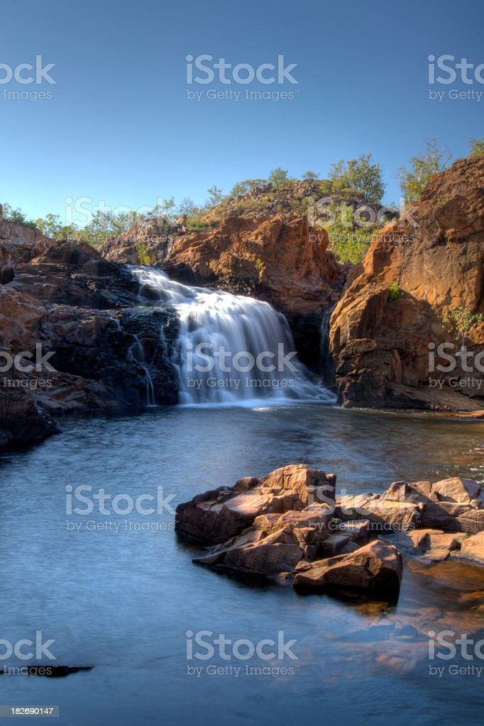 A view of the Edith Falls during the day stock photo