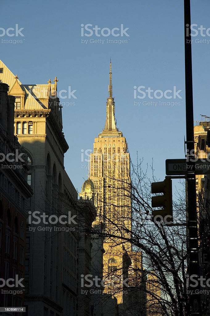 View of the Empire State Building in New York royalty-free stock photo