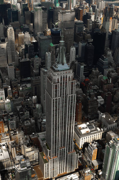 View of the Empire State Building stock photo