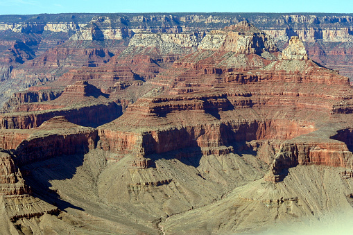 View of the erosion left in the Grand Canyon
