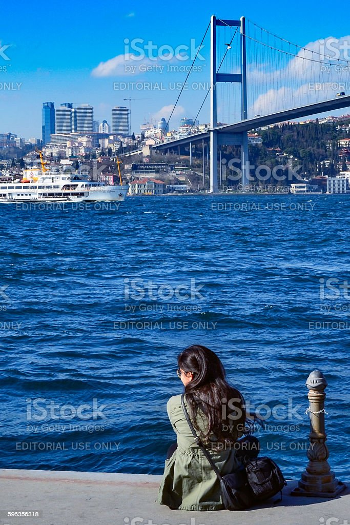 View of the European side of Istanbul from the Bosphorus. royalty-free stock photo