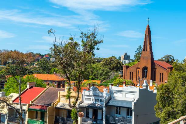 Blick auf die Fassade des Kirchengebäudes, Sydney, Australien – Foto