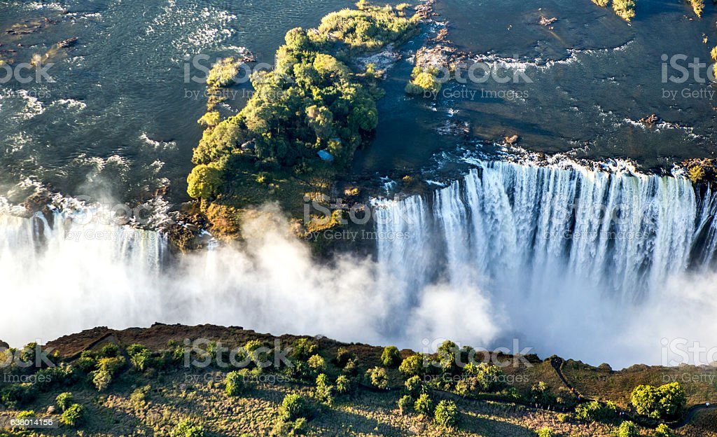 View of the Falls from a height of bird flight. royalty-free stock photo