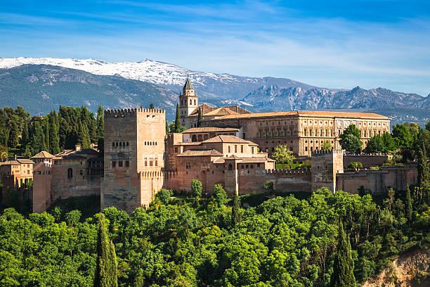 の有名なアルハンブラ、グラナダ、スペイン製です。 - スペイン グラナダ ストックフォトと画像