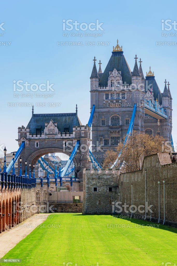 View of the famous Tower Bridge stock photo