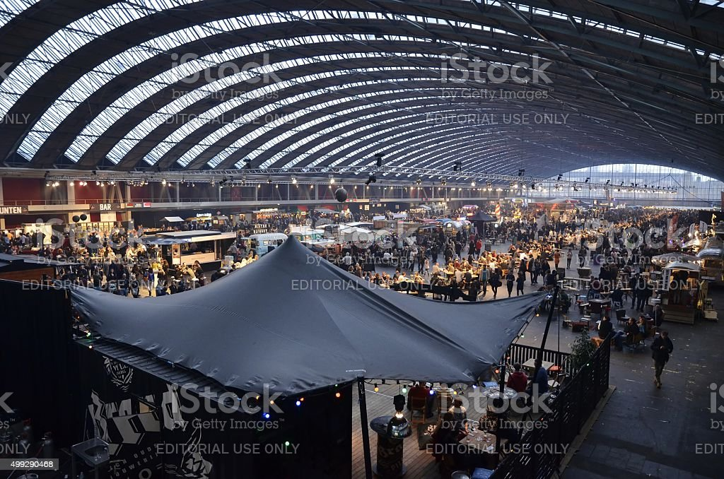 View of the Foodfestival from the South-West corner stock photo