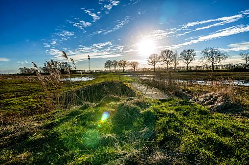 View Of The Former Schokland Island In The Dutch Noordoostpolder Stock Photo - Download Image Now