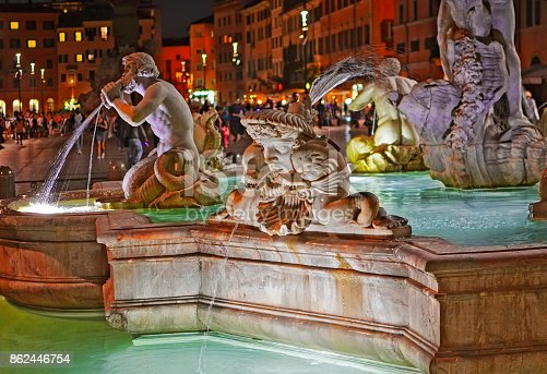 istock View of the Fountain of the Moor (Fontana del Moro) 862446754