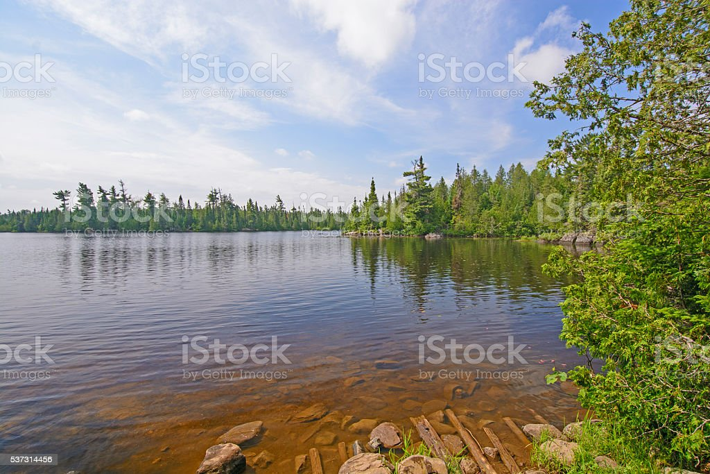 View of the from the End of the Portage stock photo