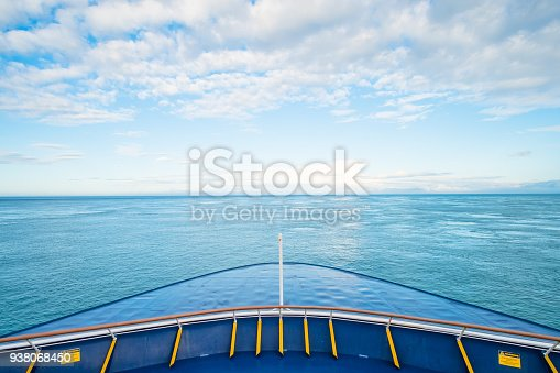 istock View of the front of the ferry heading to South Island, New Zealand. 938068450