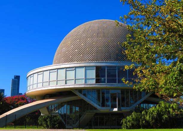 View of the Galileo Galilei Planetarium known as Planetario. Buenos Aires, Argentina - March 24, 2019. View of the Galileo Galilei Planetarium known as Planetario. galileo galilei stock pictures, royalty-free photos & images