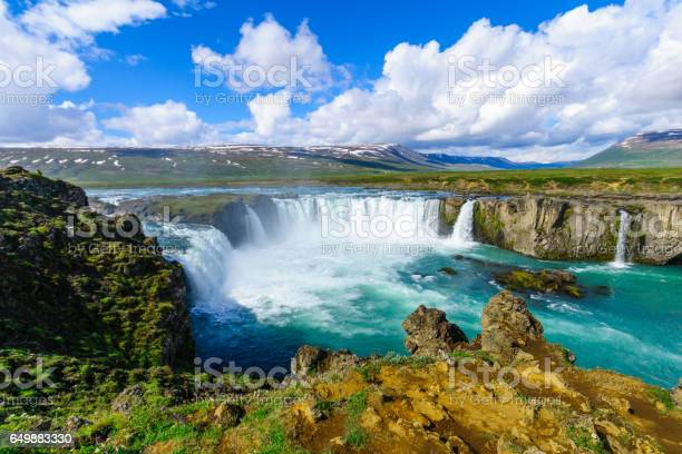 Photo of View of the Godafoss waterfall