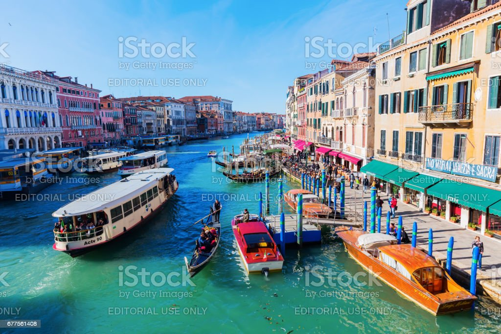 view of the Grand Canal in Venice, Italy royalty-free stock photo