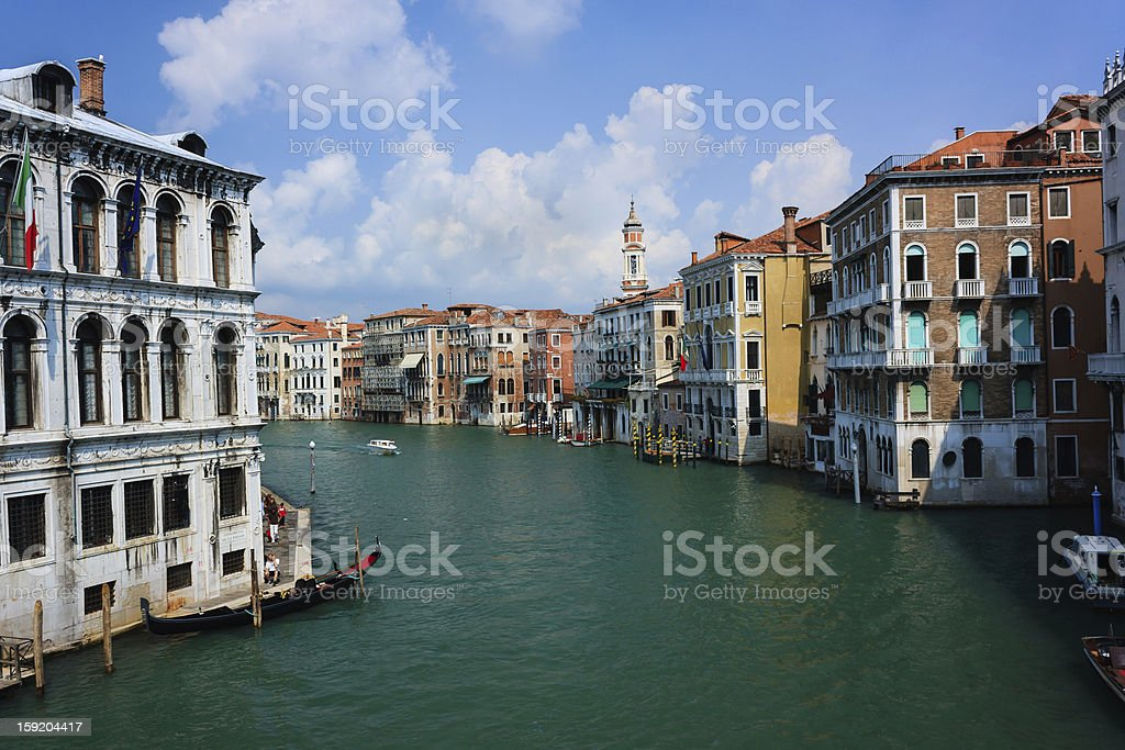 View of the Grand Canal, Venice on a summer day royalty-free stock photo