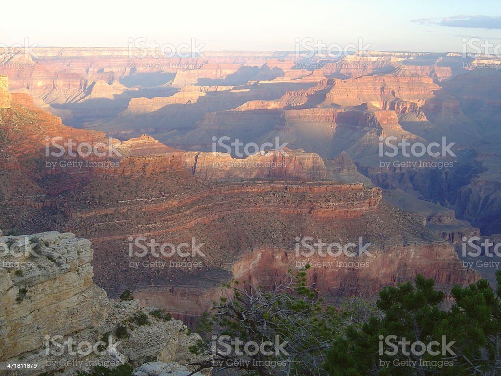 View of the Grand Canyon royalty-free stock photo