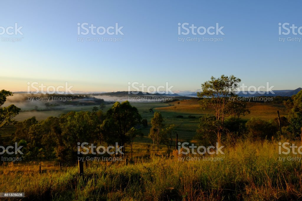 View of the Grandchester area of Ipswich, Queensland stock photo
