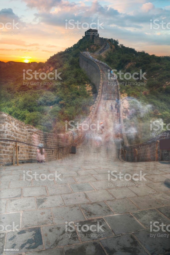 View of the great Chinese wall stock photo