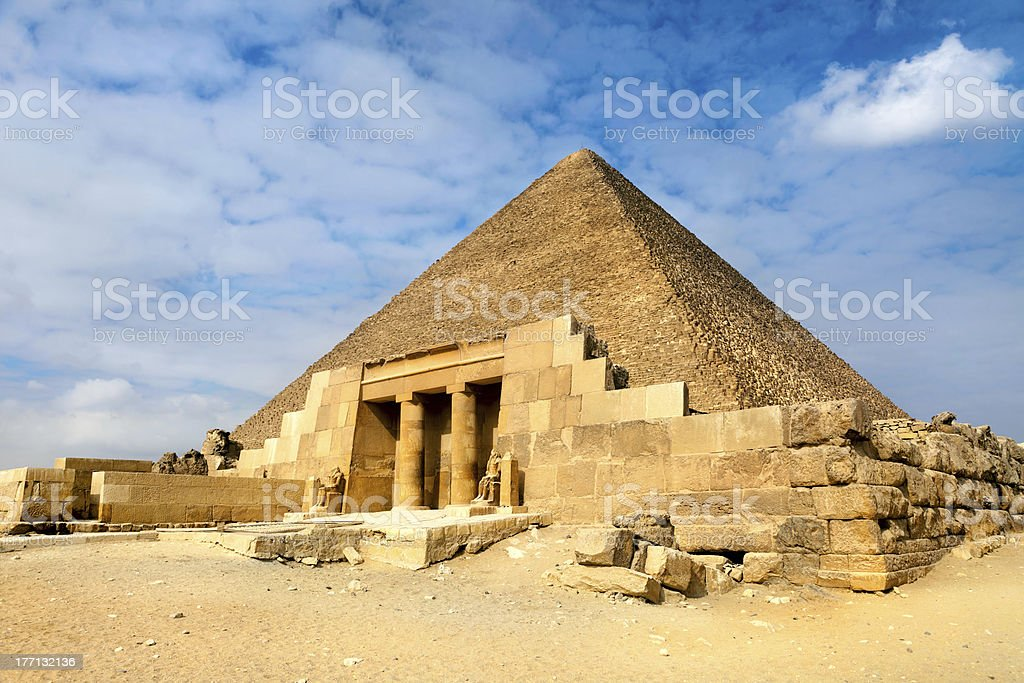 View of the Great Pyramids in Egypt stock photo