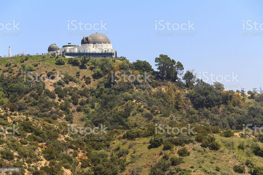 View of the Griffith Observatory stock photo