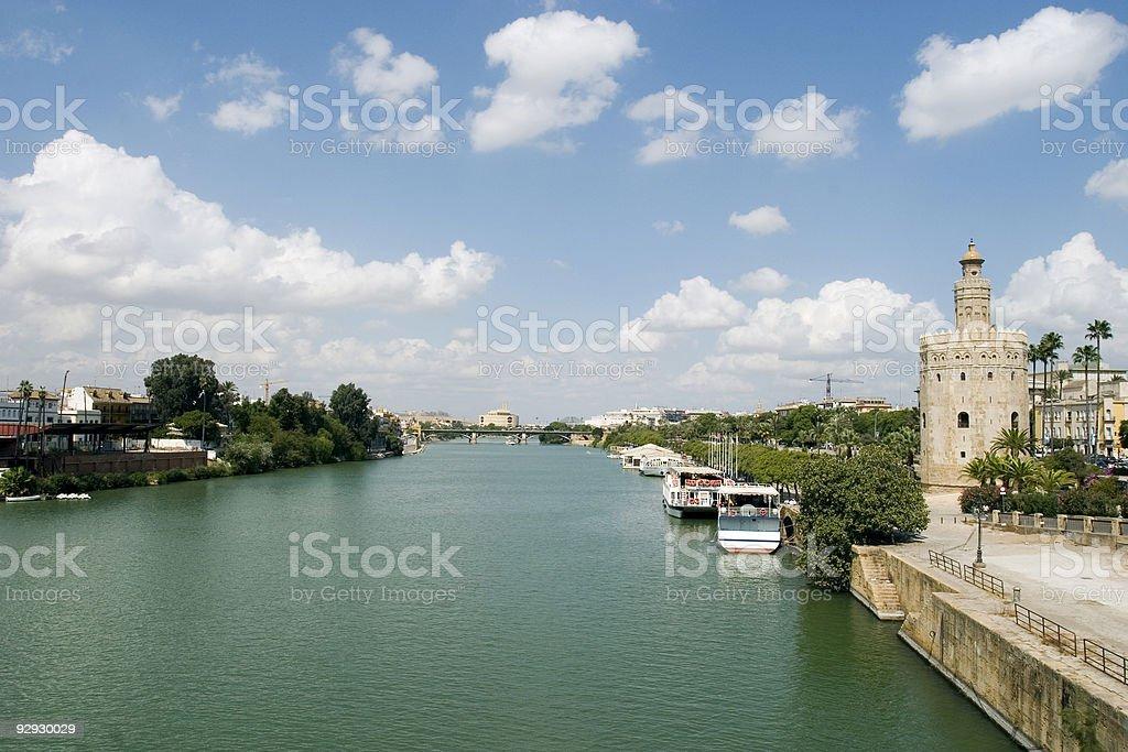 View of the Guadalquivir river royalty-free stock photo