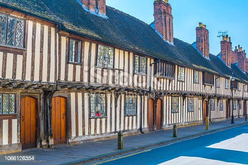 istock View of the Guildhall in Stratford upon Avon, England 1066126354