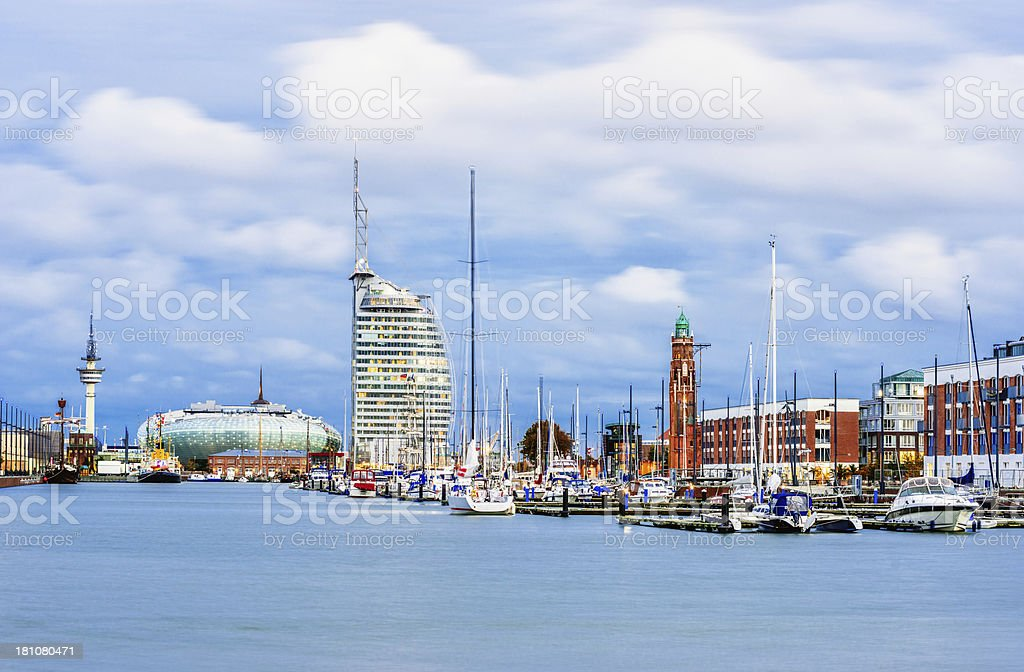 A view of the harbor of Bremerhaven  stock photo