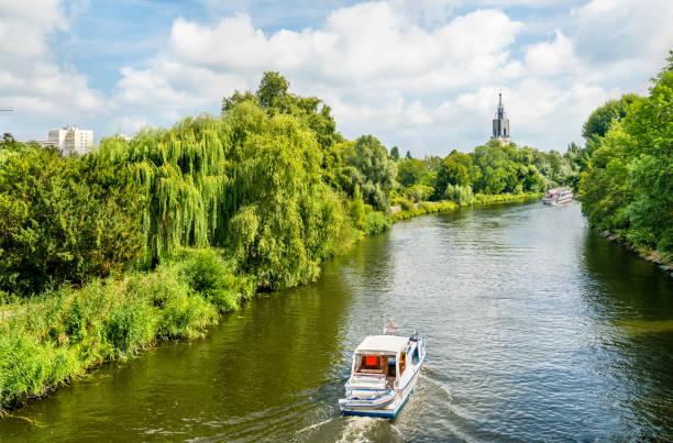 포츠담, 독일에서 하 벨 강 보기 - 브란덴부르크 주 뉴스 사진 이미지