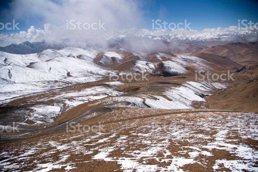 View of the Himalayas zbiór zdjęć royalty-free