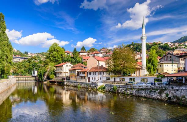 Blick auf das historische Zentrum von Sarajevo – Foto