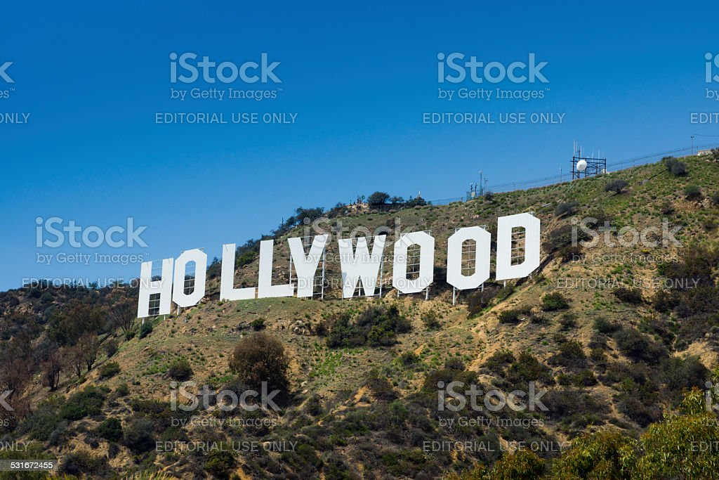 View of the Hollywood sign stock photo