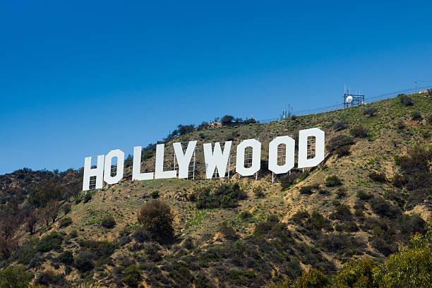 view of the hollywood sign - hollywood sign bildbanksfoton och bilder
