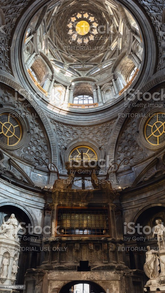 View Of The Holy Shroud Chapel Inside The Cathedral Of Turin