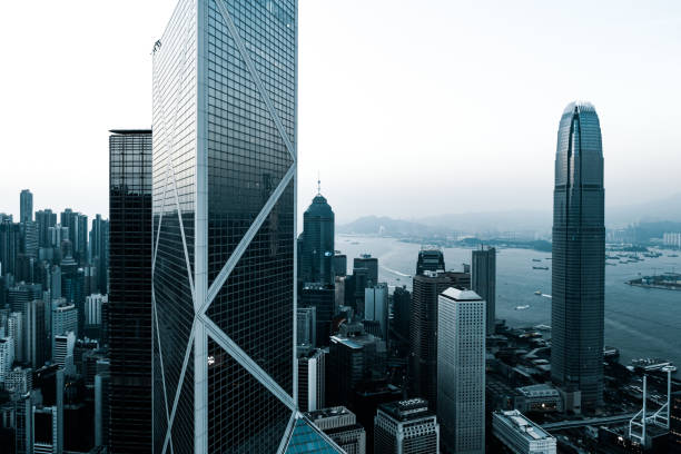 View of the Hong Kong City Skyline of midtown of Central, Hong Kong city brics stock pictures, royalty-free photos & images
