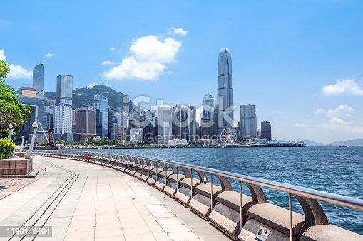 Central District - Hong Kong, Hong Kong, Hong Kong Island, Victoria Harbour - Hong Kong, Aerial View