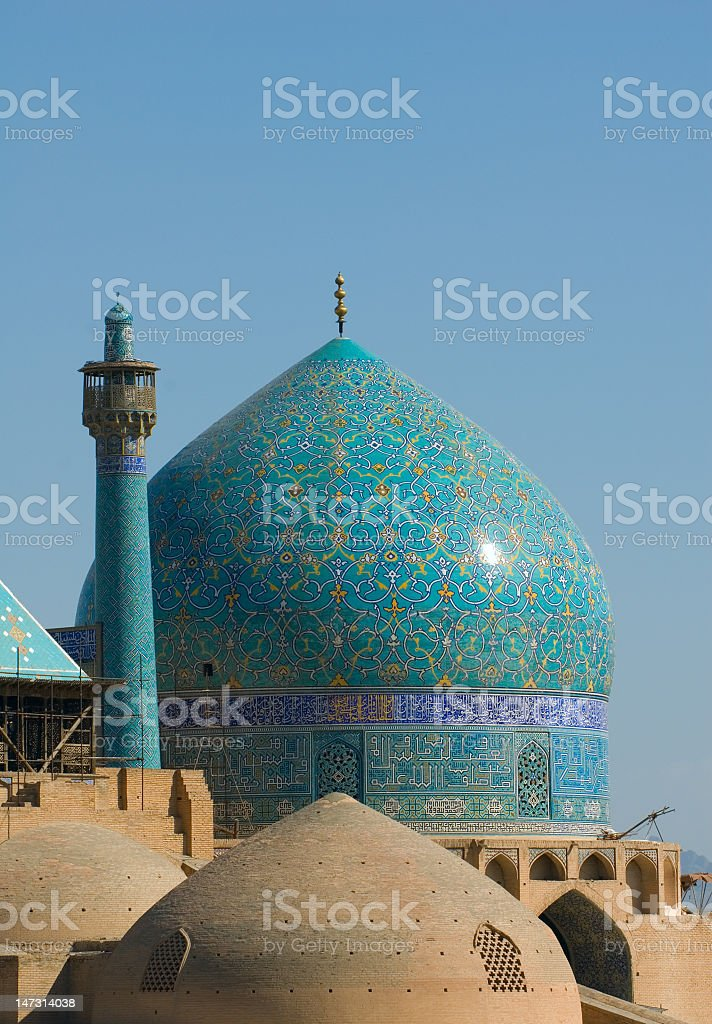 View of the Imam Mosque in Isfahan, Iran at daytime stock photo
