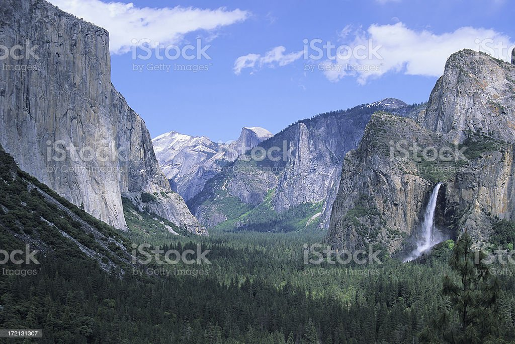 View of the inspiration point with clear blue sky stock photo