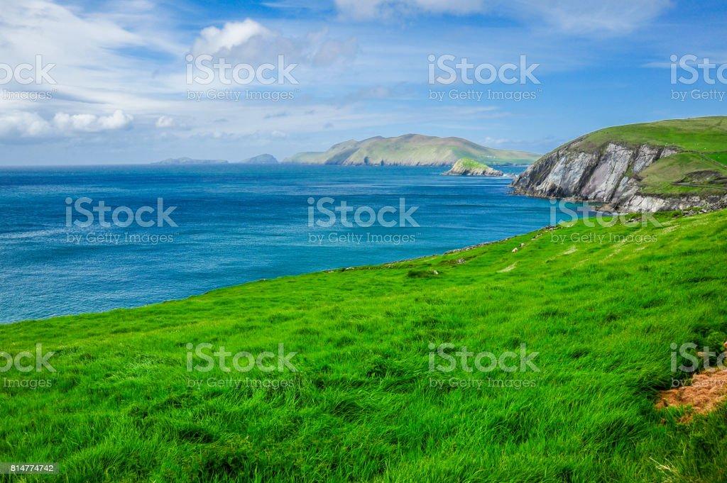 View of the Irish Coastline stock photo