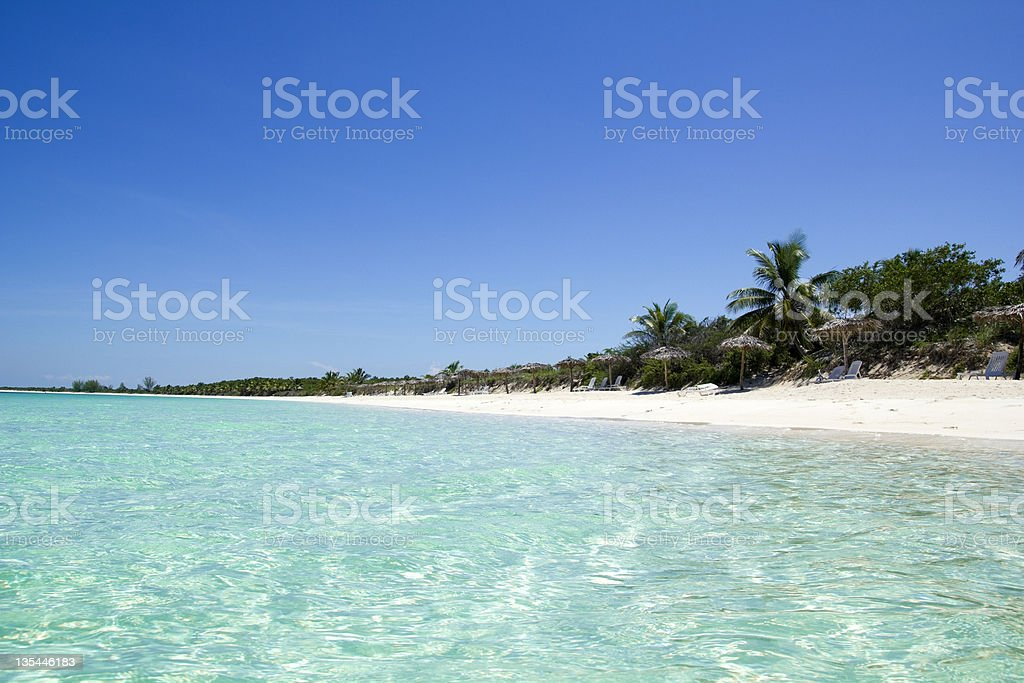 View of the island Cayo Santa Maria located off Cuban coast stock photo