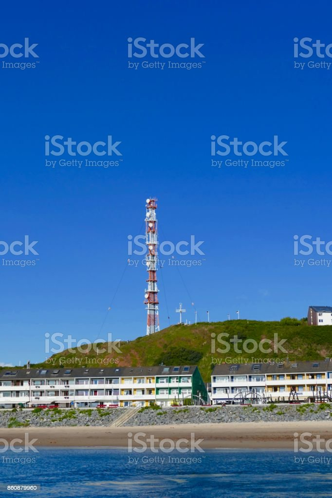 View of the island of Helgoland from the sea stock photo