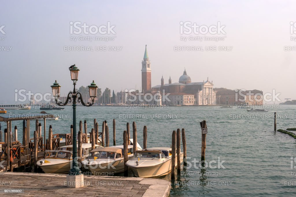 View of the island of San Giorgio from San Marco. stock photo