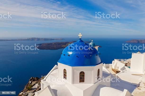 View of the island of Santorini, Greece