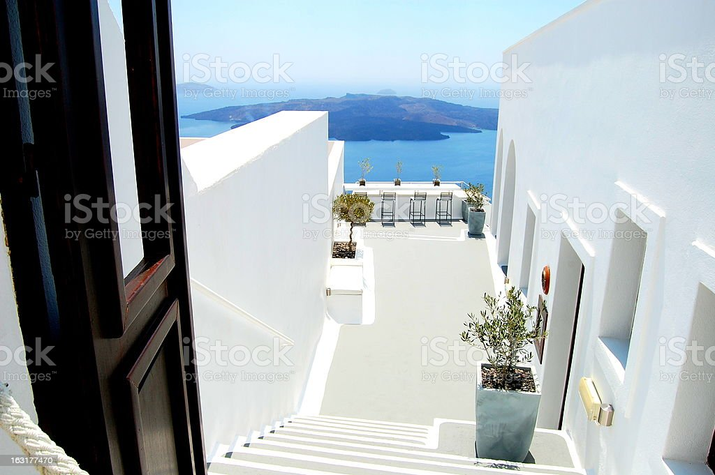 View of the island Santorini royalty-free stock photo