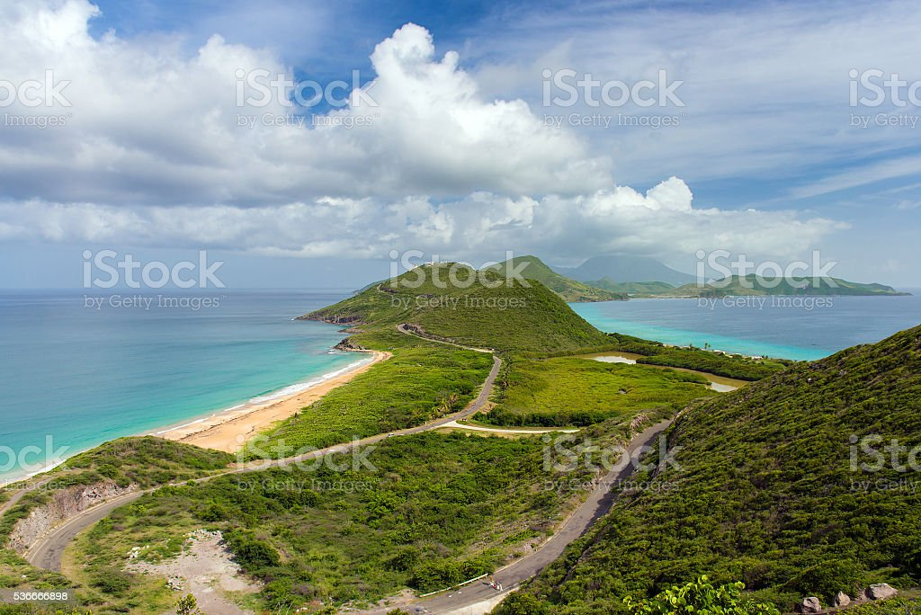 view of the island St.Kitts stock photo
