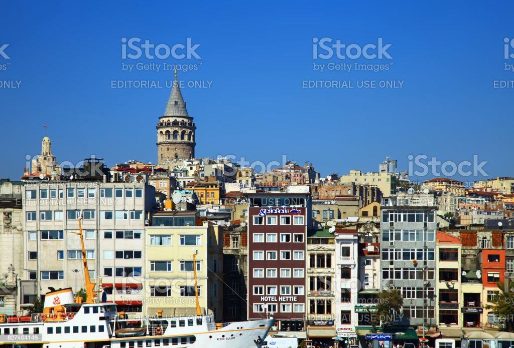 View of the Karakoy. Istanbul, Turkey. stock photo