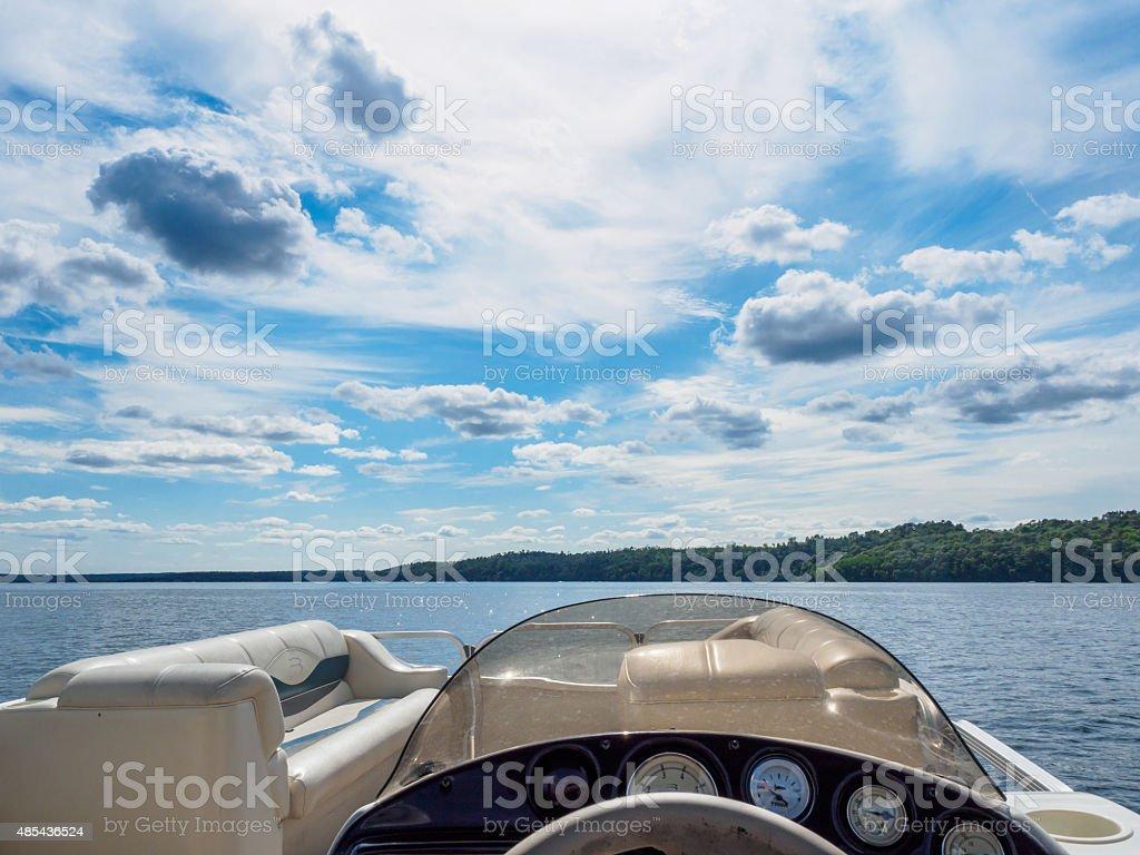 Vue sur le lac depuis le bateau - Photo