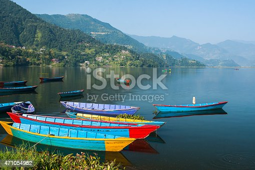 istock view of the lake in Pokhara 471054982
