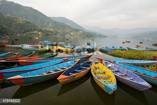 istock view of the lake in Pokhara 475493522