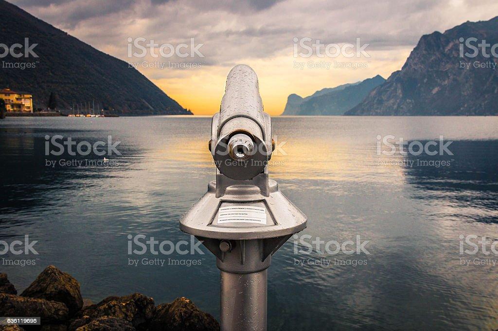 View of the Lake (Garda Lake) stock photo